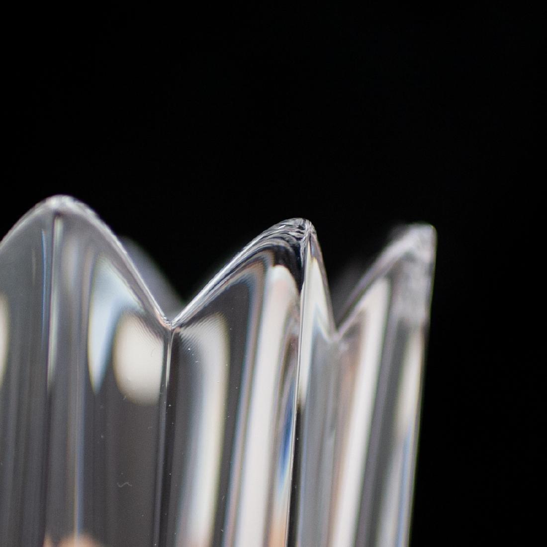 """(6 Pc) Orrefors Crystal """"Crown"""" Vases - 3"""