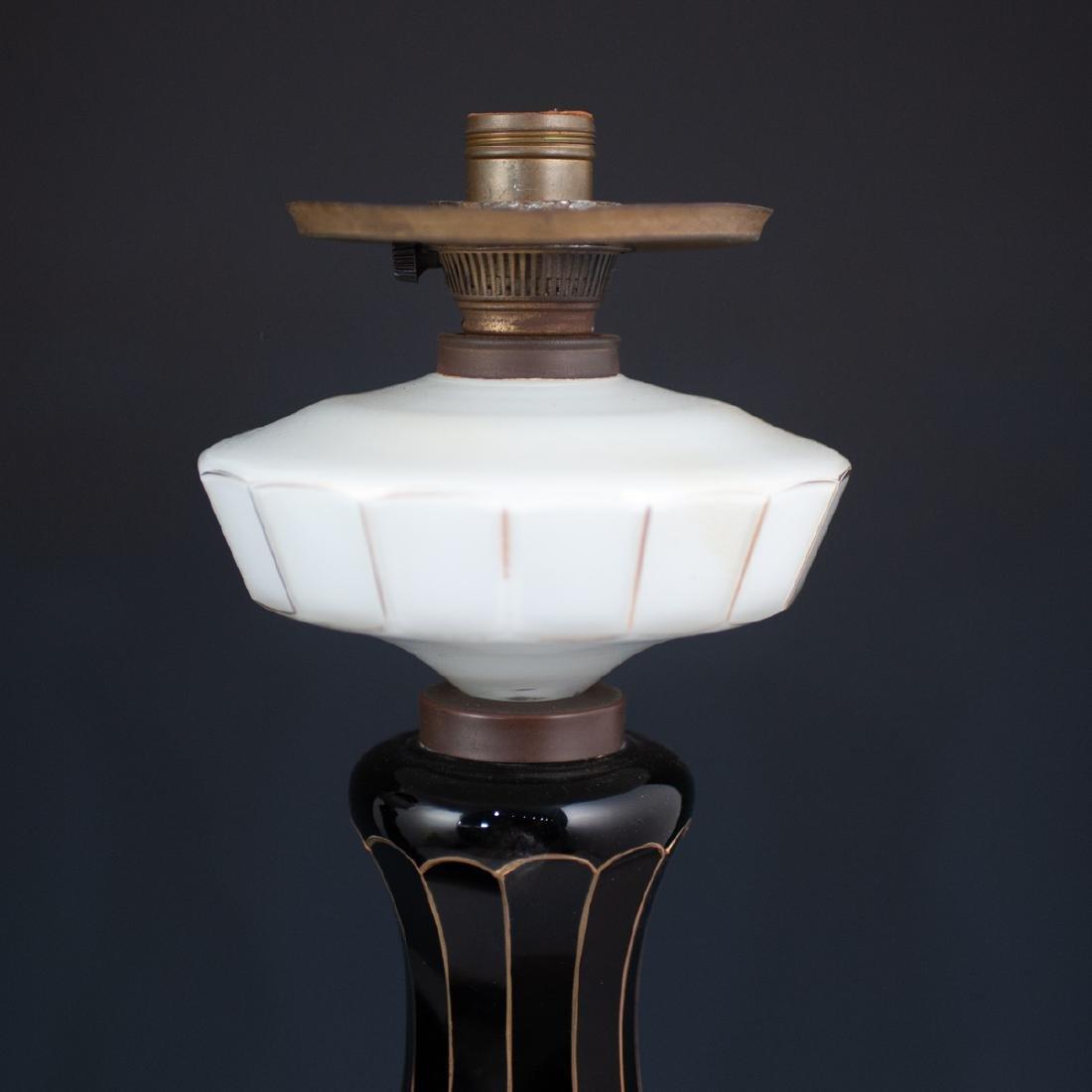 Pair Of Bohemian Monumental Glass Lamps - 4