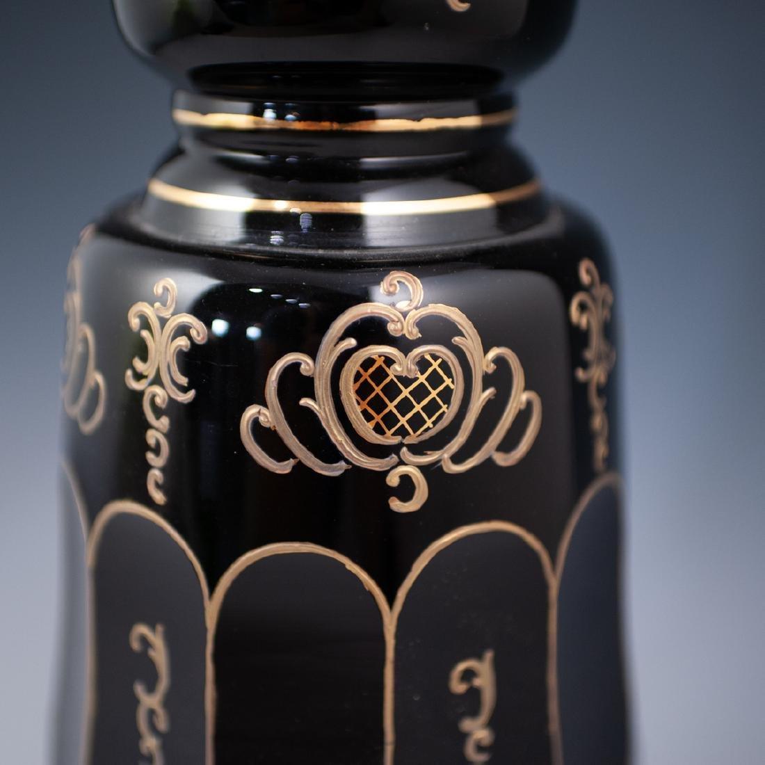 Pair Of Bohemian Monumental Glass Lamps - 6