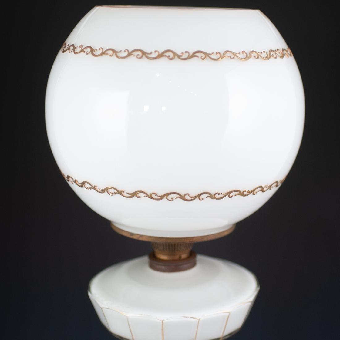 Pair Of Bohemian Monumental Glass Lamps - 8