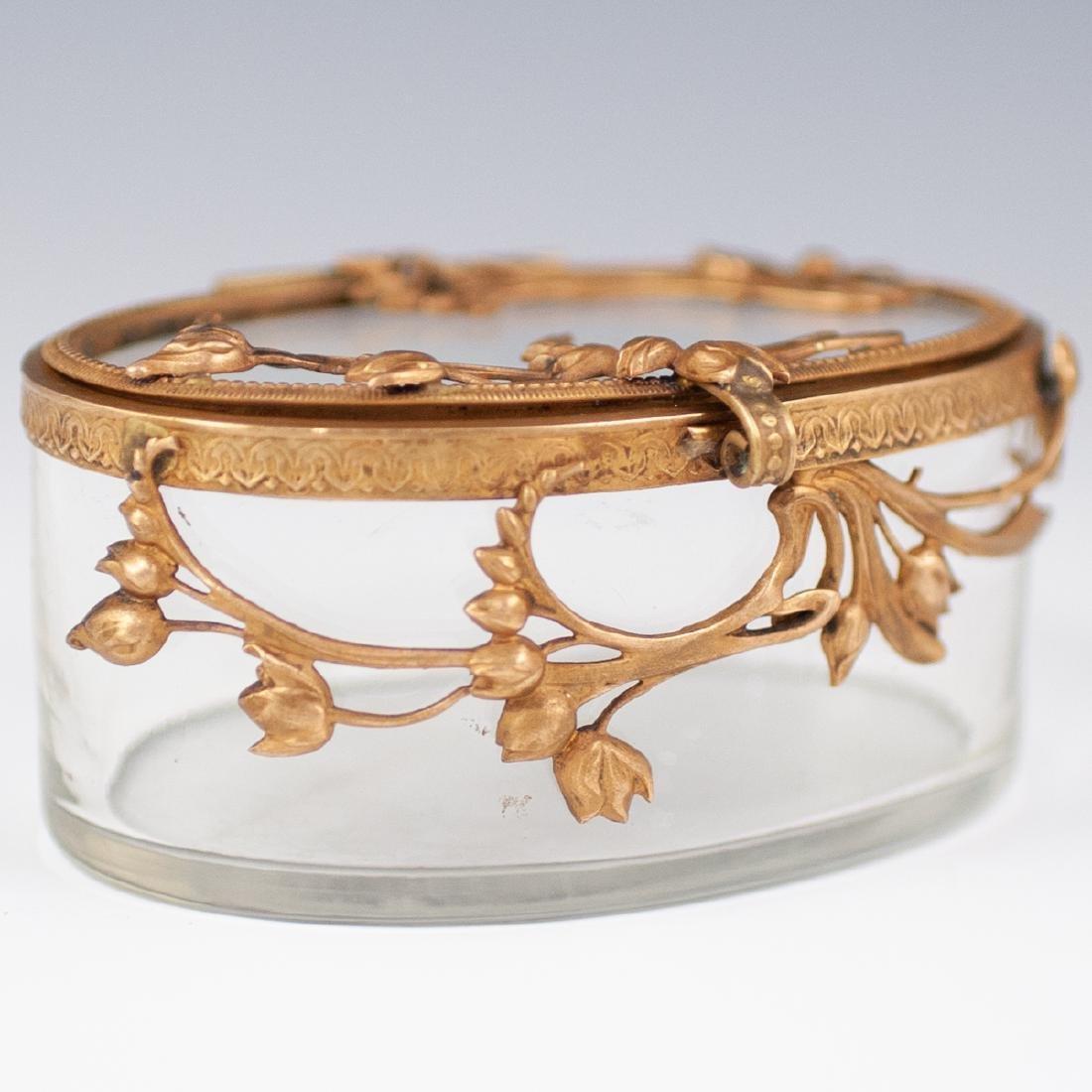 Brass & Glass Trinket box