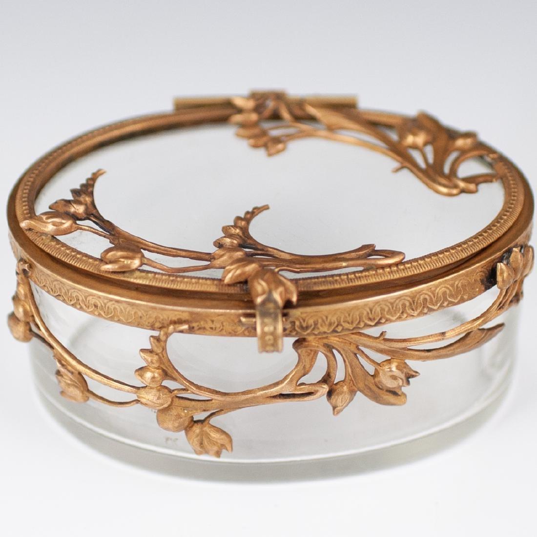 Brass & Glass Trinket box - 2