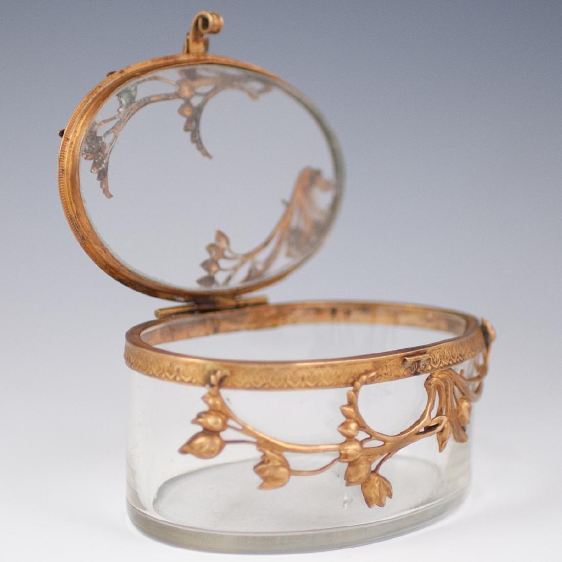 Brass & Glass Trinket box - 4