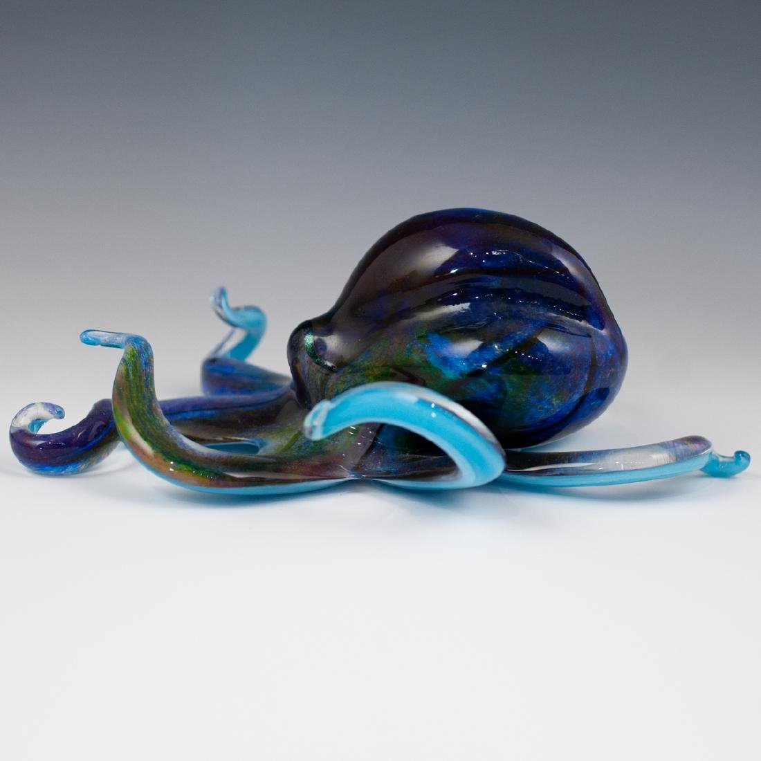 Michael Hopko Art Glass Octopus - 4