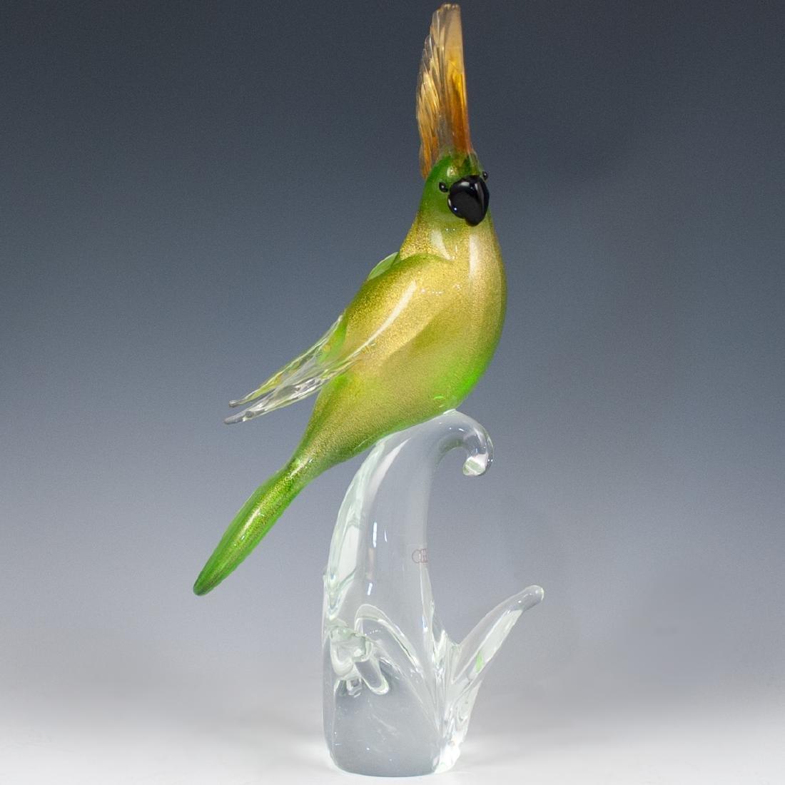 Oggetti Murano Glass Parakeet