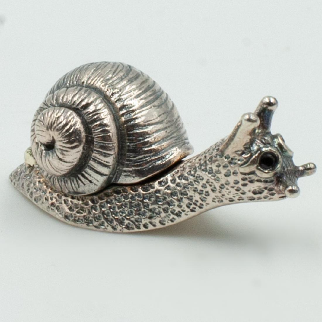 Miniature Sterling Snail Box