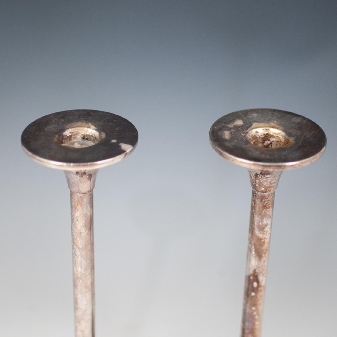 Pair Of Sterling Hazorfim Candlesticks - 2