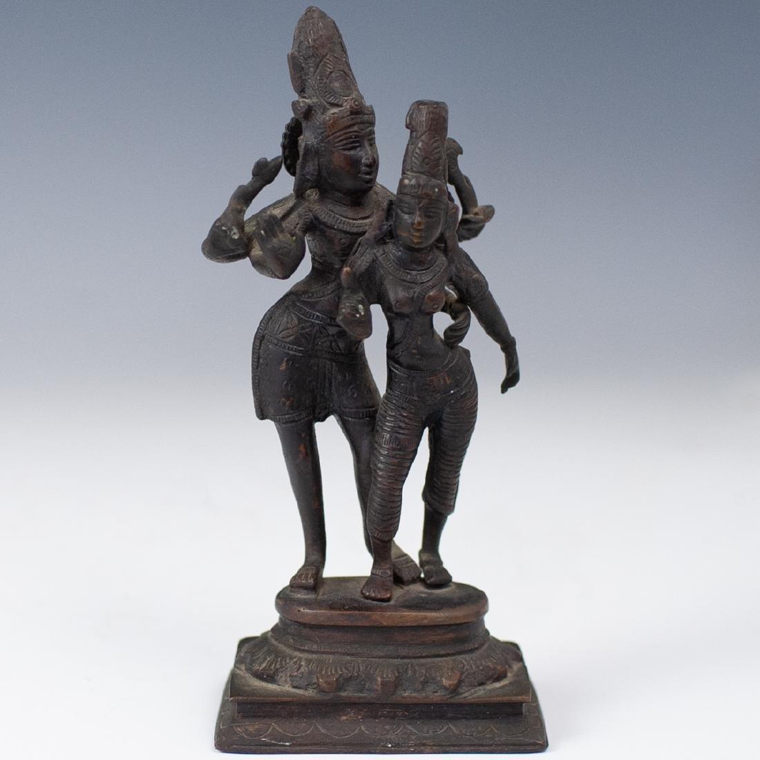 Shiva & Parvati Bronze