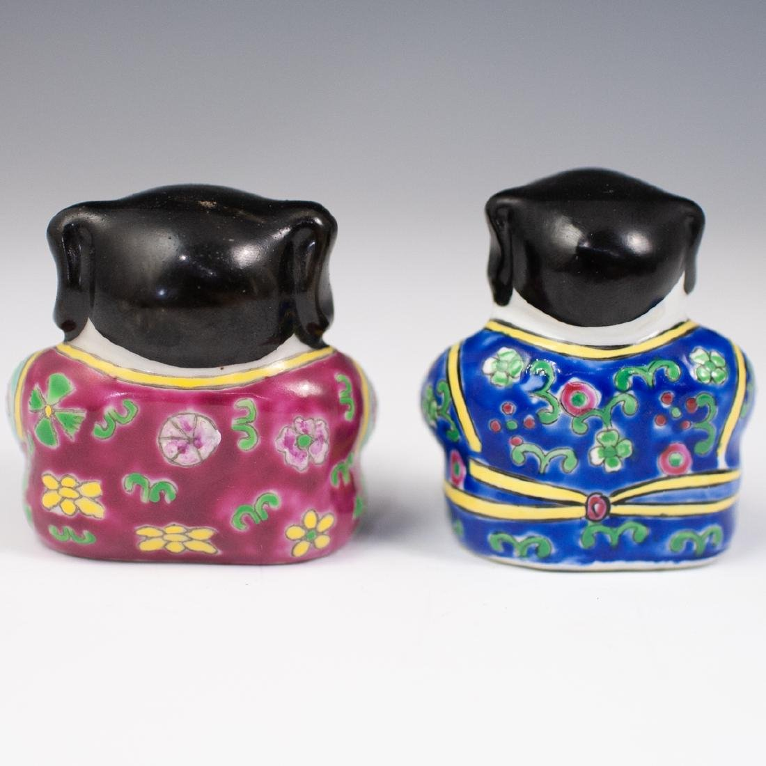 Pair Of Chinese Porcelain Buddhas - 2
