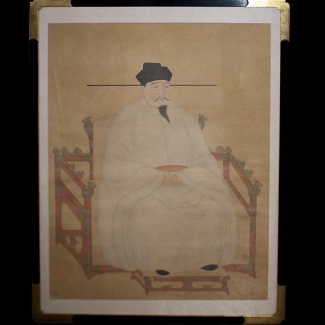 Song Dynasty Emperor Painted On Silk