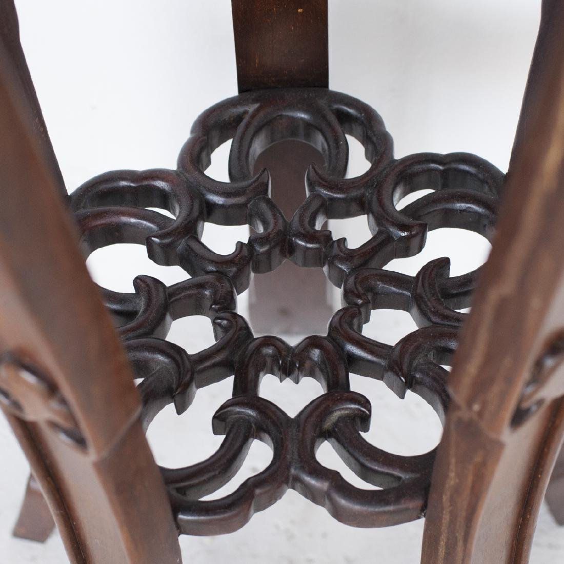 Pair Of Chinese Wooden Pedestals - 4