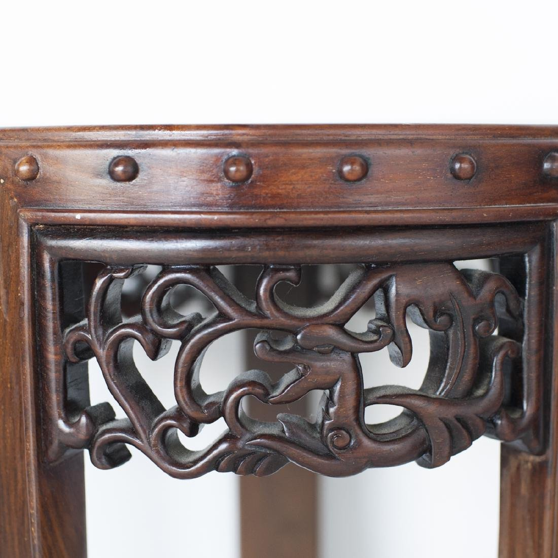 Pair Of Chinese Wooden Pedestals - 5