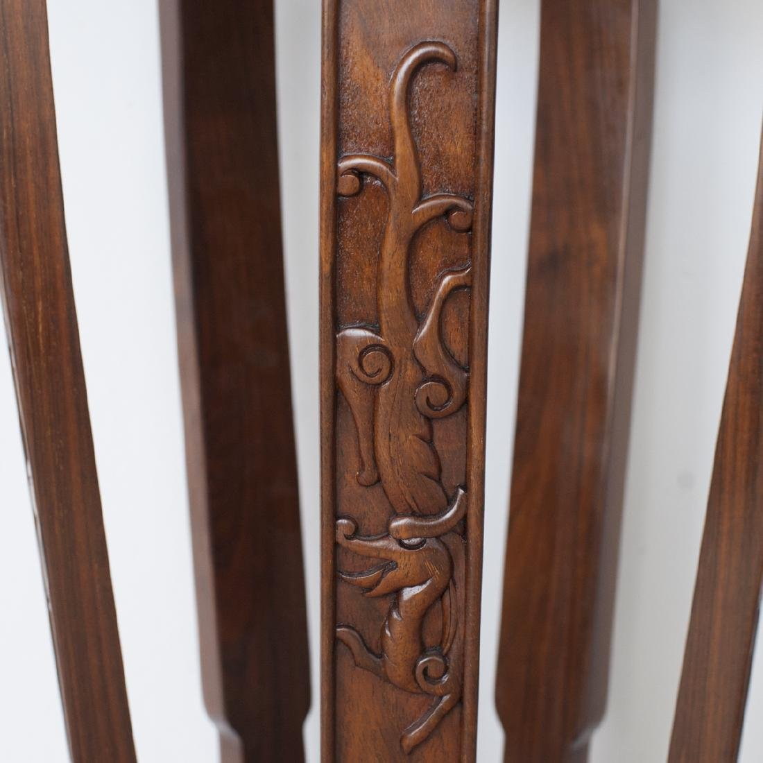 Pair Of Chinese Wooden Pedestals - 6