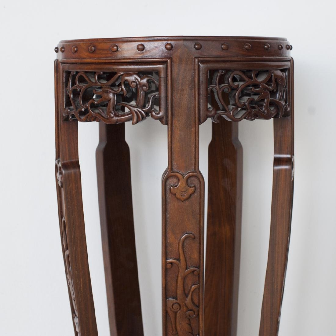 Pair Of Chinese Wooden Pedestals - 7