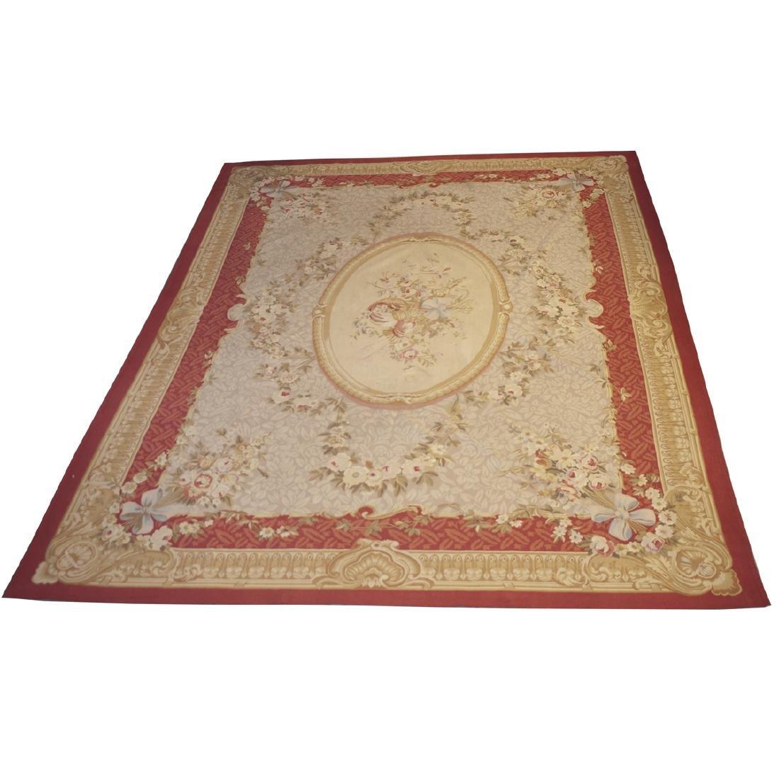 Large Antique Aubusson Carpet