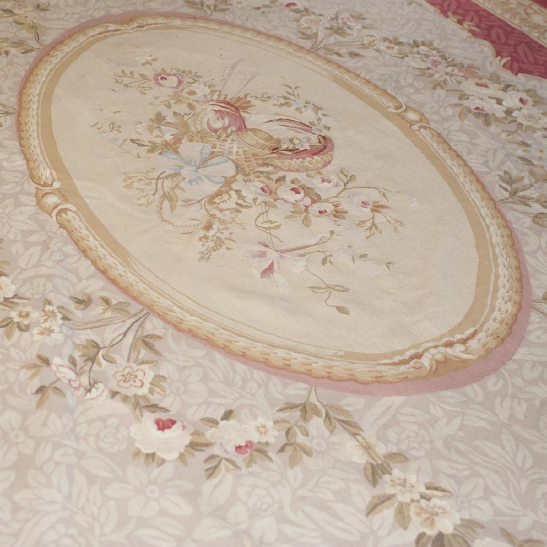 Large Antique Aubusson Carpet - 4