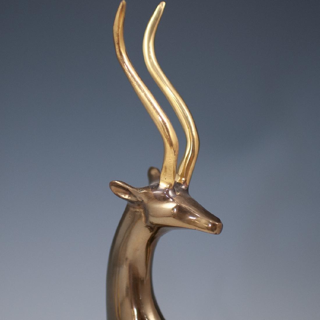Pair Of Decorative Metal Deer - 2