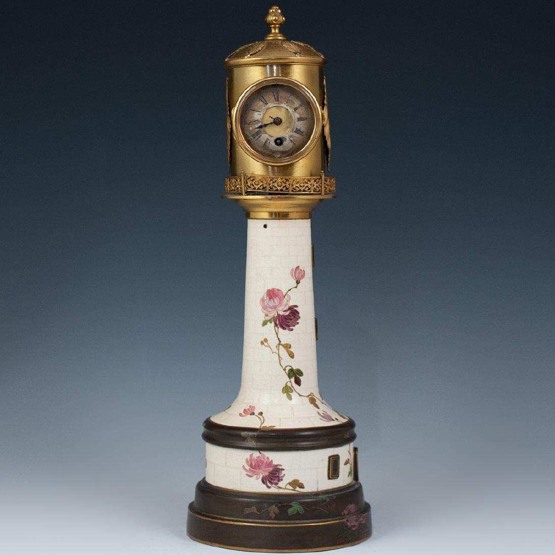 Antique Porcelain Lighthouse Clock/Barometer