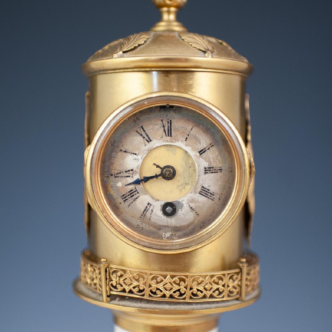 Antique Porcelain Lighthouse Clock/Barometer - 4