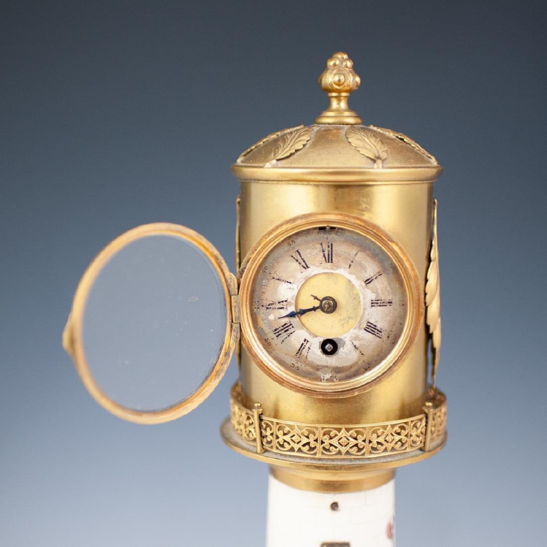 Antique Porcelain Lighthouse Clock/Barometer - 9