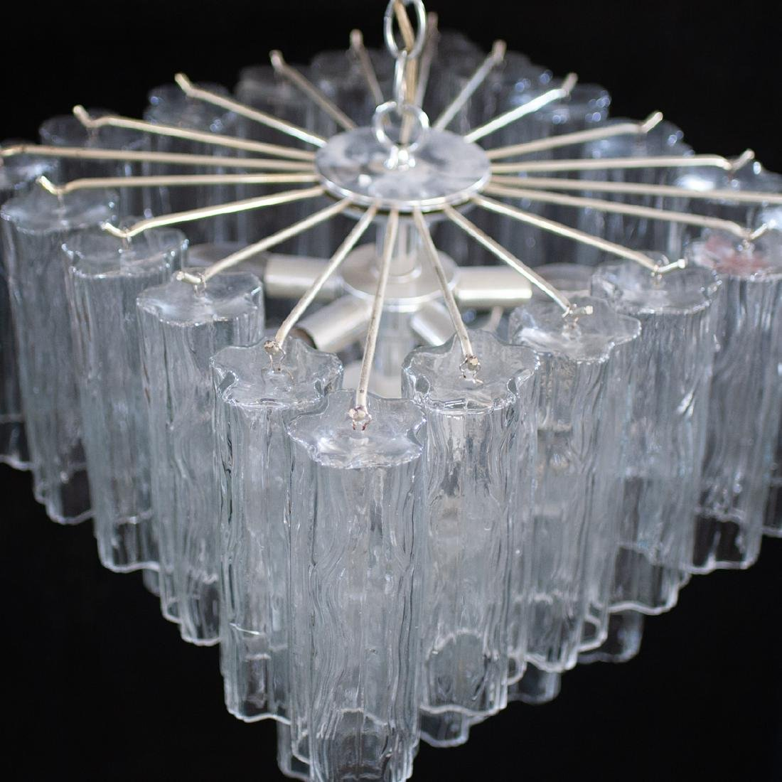Vintage Camer Murano Glass Chandelier - 3