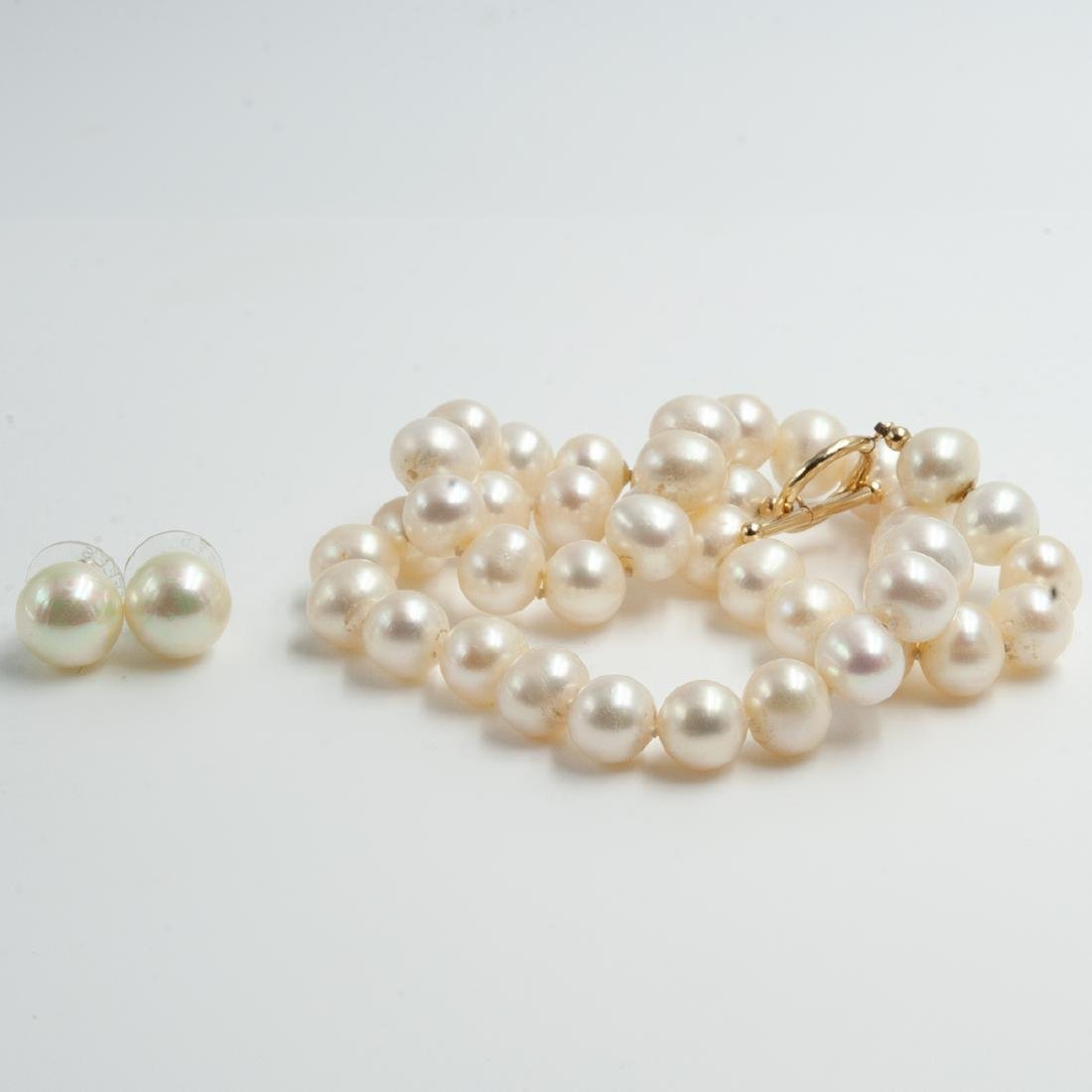 Necklace & Stud Pearl Set