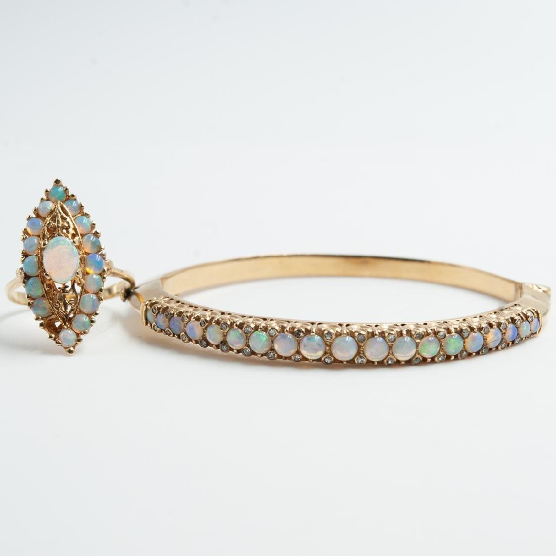 14K Gold & Opal Jewelry Set
