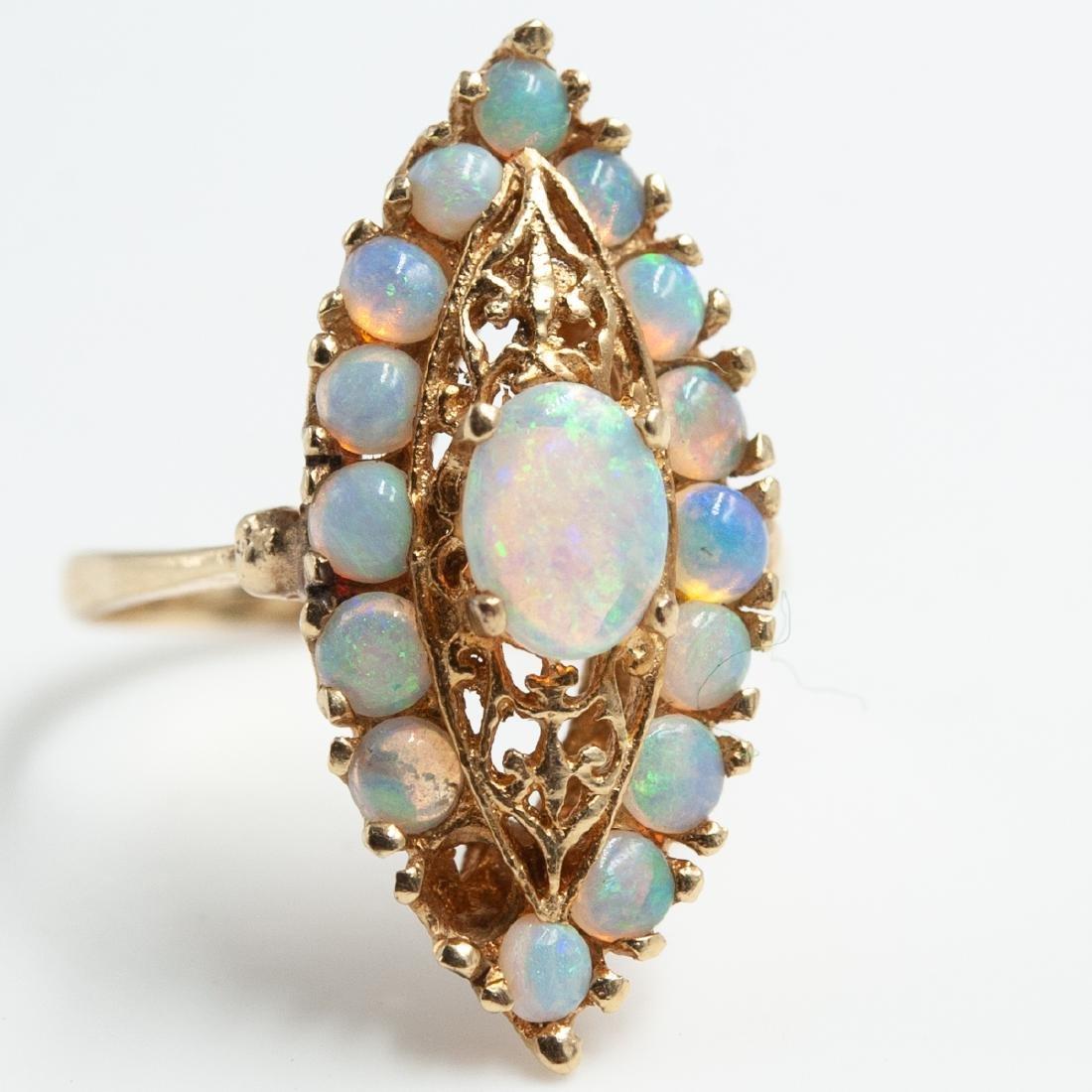 14K Gold & Opal Jewelry Set - 3