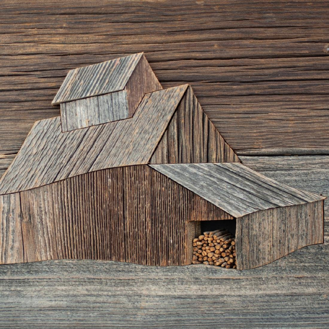 John W. Long Mixed Wood Panel - 2
