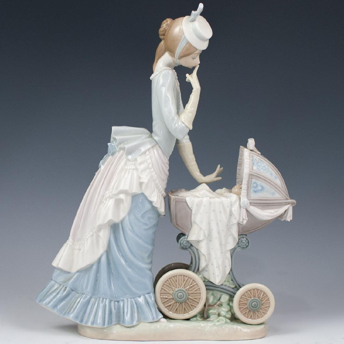 "Lladro ""Baby's Outing"" Porcelain"