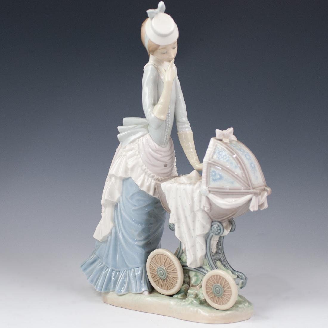 "Lladro ""Baby's Outing"" Porcelain - 4"