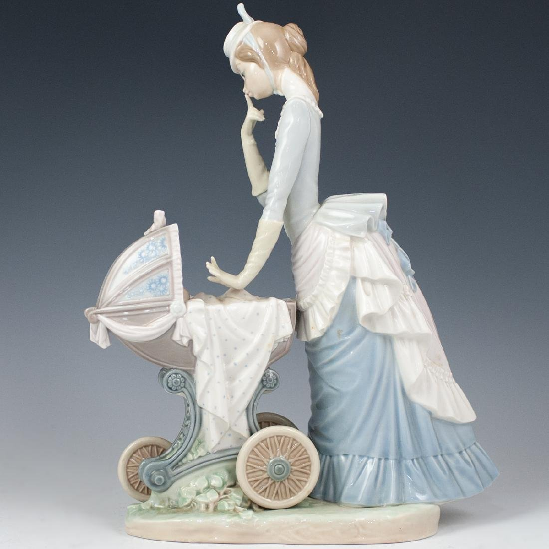 "Lladro ""Baby's Outing"" Porcelain - 6"