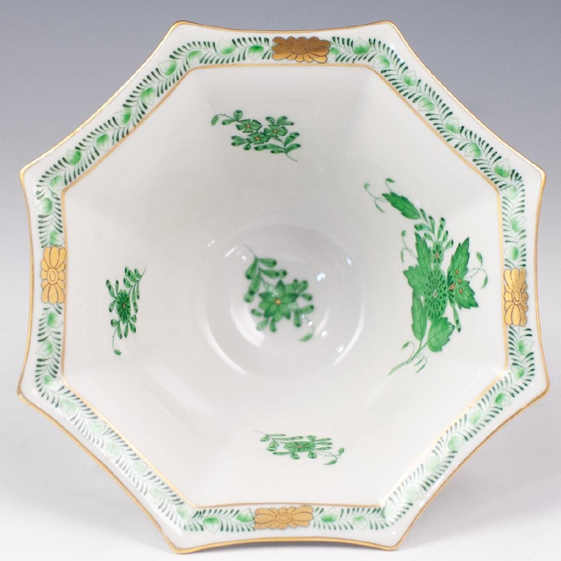 "Herend ""Apponyi Verte"" Porcelain Bowl - 3"