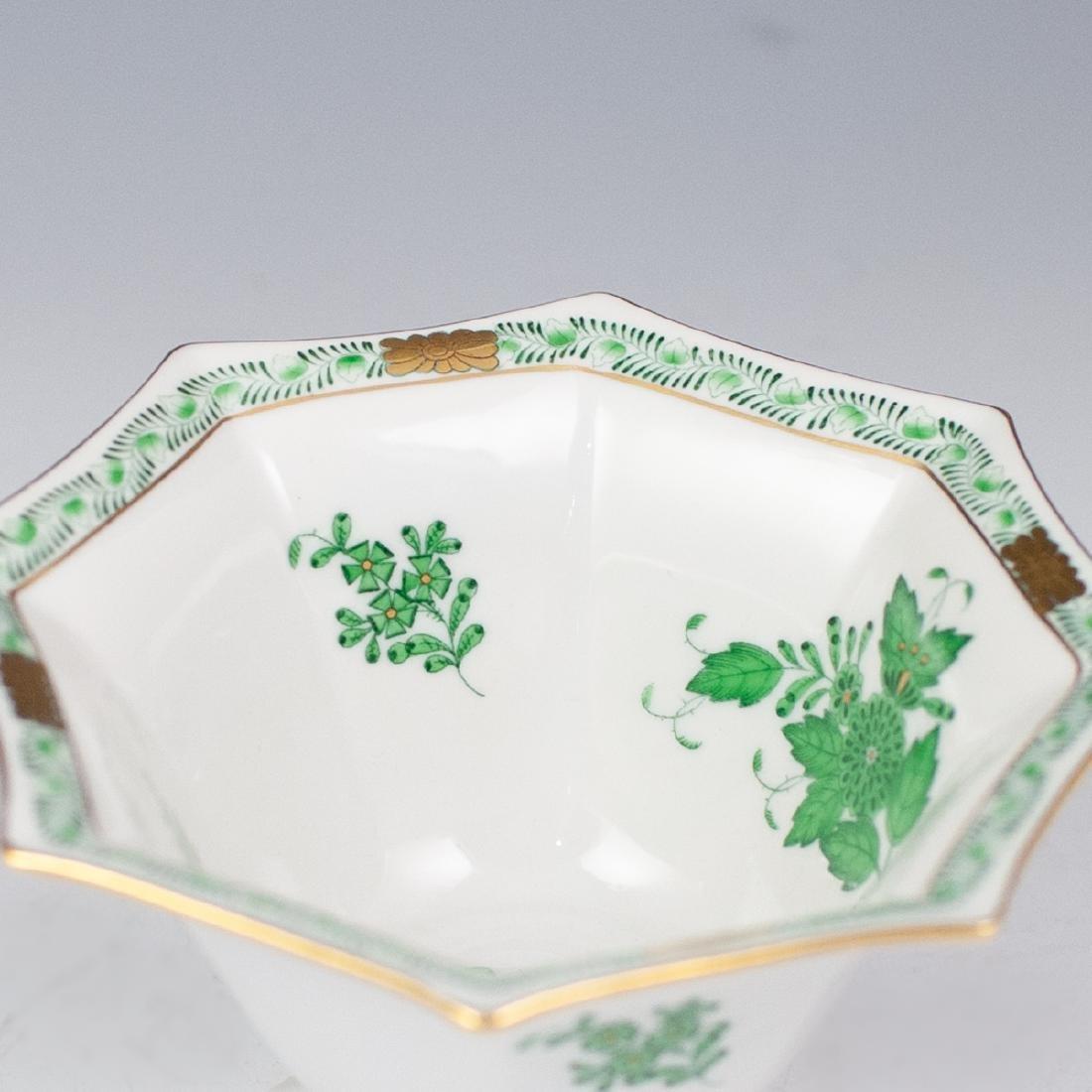 "Herend ""Apponyi Verte"" Porcelain Bowl - 4"