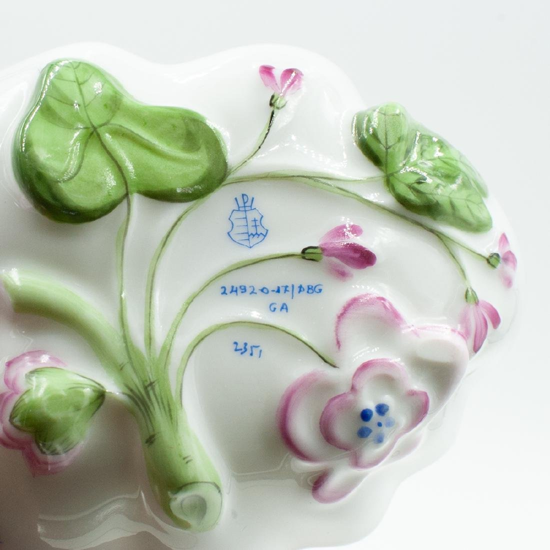 Herend Porcelain Leaf Dish - 4