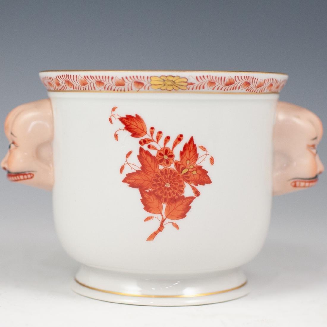 Herend Double Face Porcelain Cache Pot