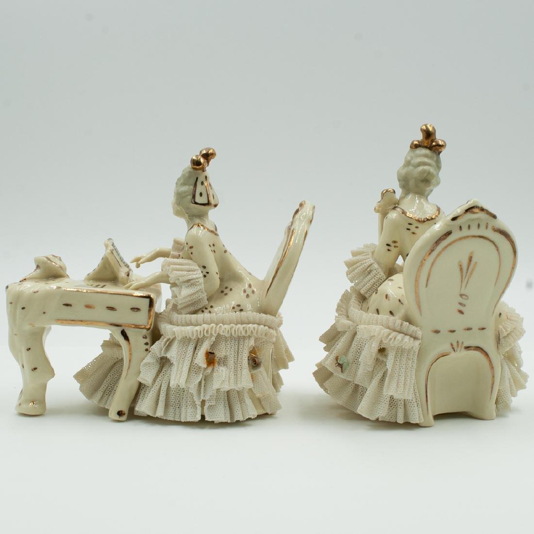 Pair Of Dresden Porcelain Musicians - 2