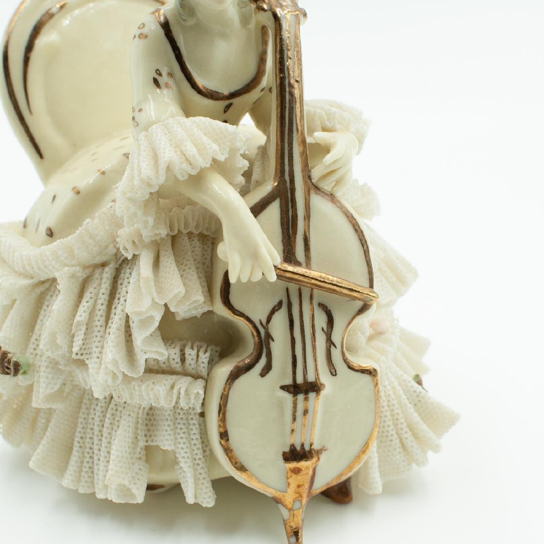 Pair Of Dresden Porcelain Musicians - 4