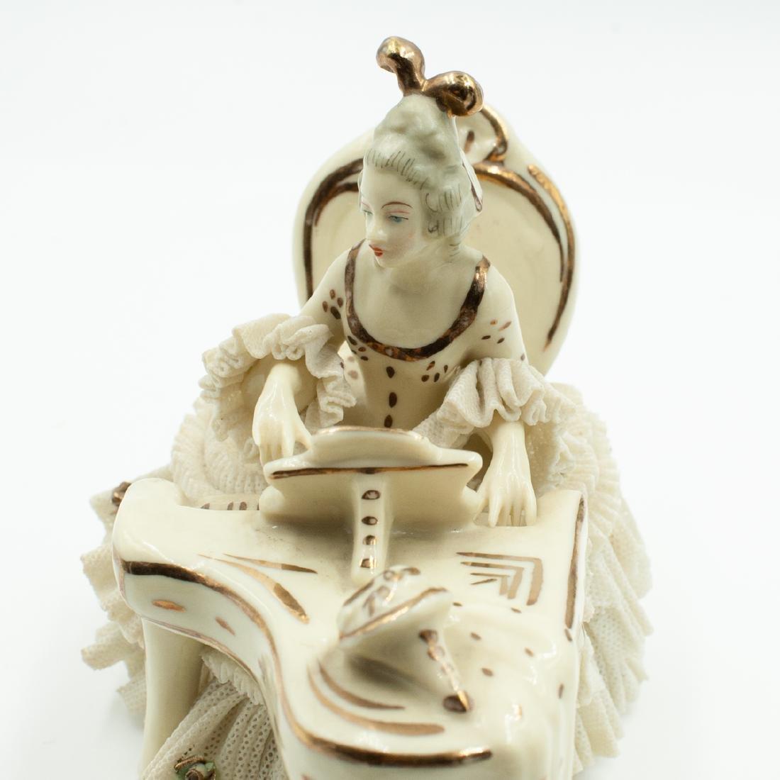 Pair Of Dresden Porcelain Musicians - 5