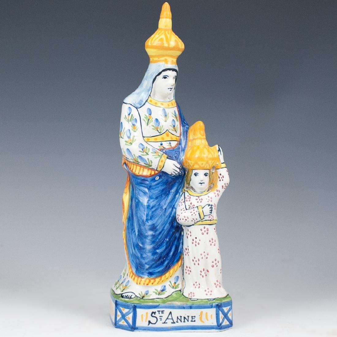 "Quimper ""Sainte Anne"" Porcelain Figurine"
