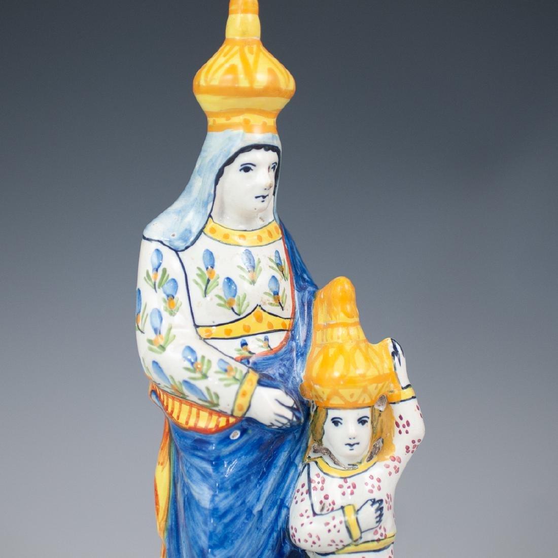"Quimper ""Sainte Anne"" Porcelain Figurine - 2"
