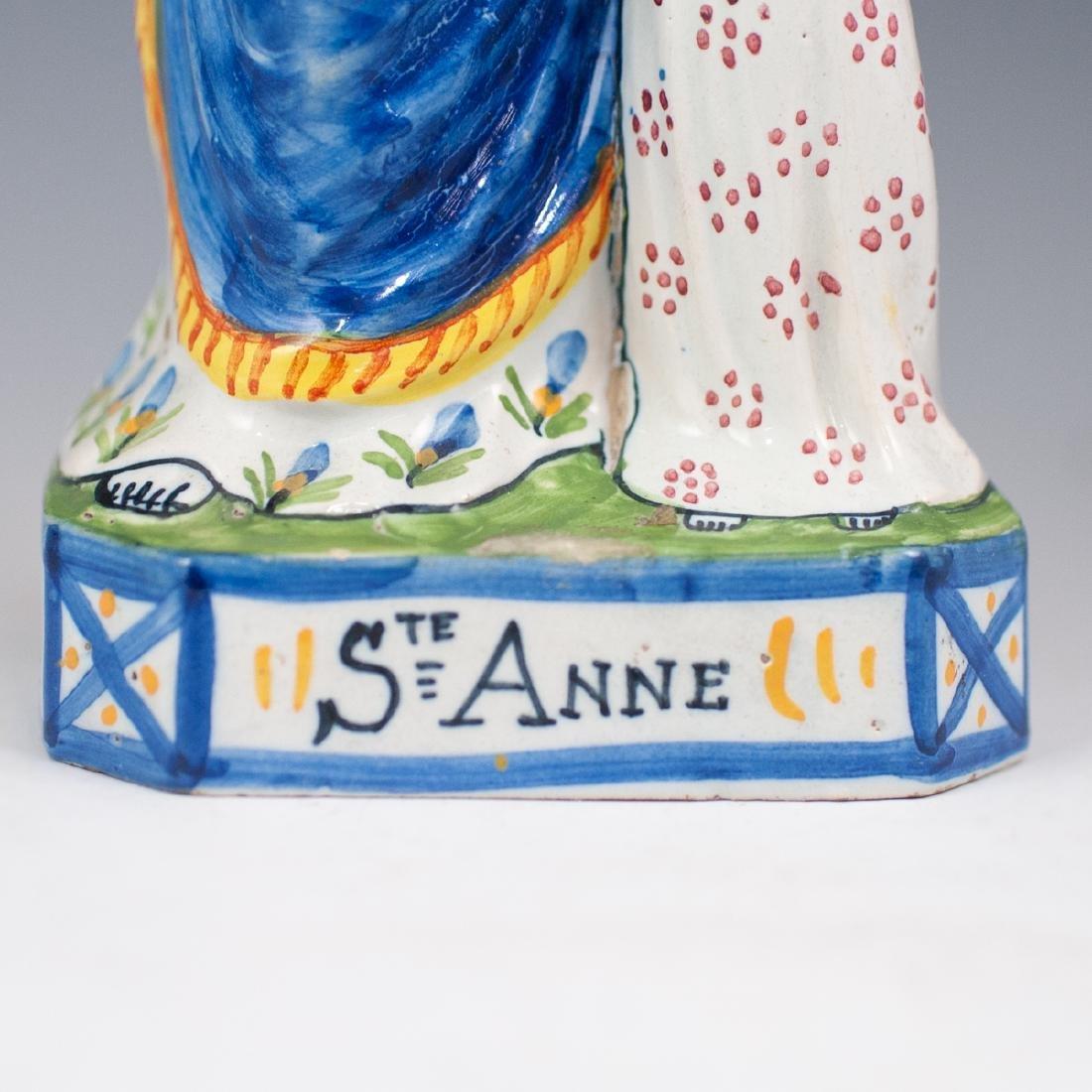 "Quimper ""Sainte Anne"" Porcelain Figurine - 3"