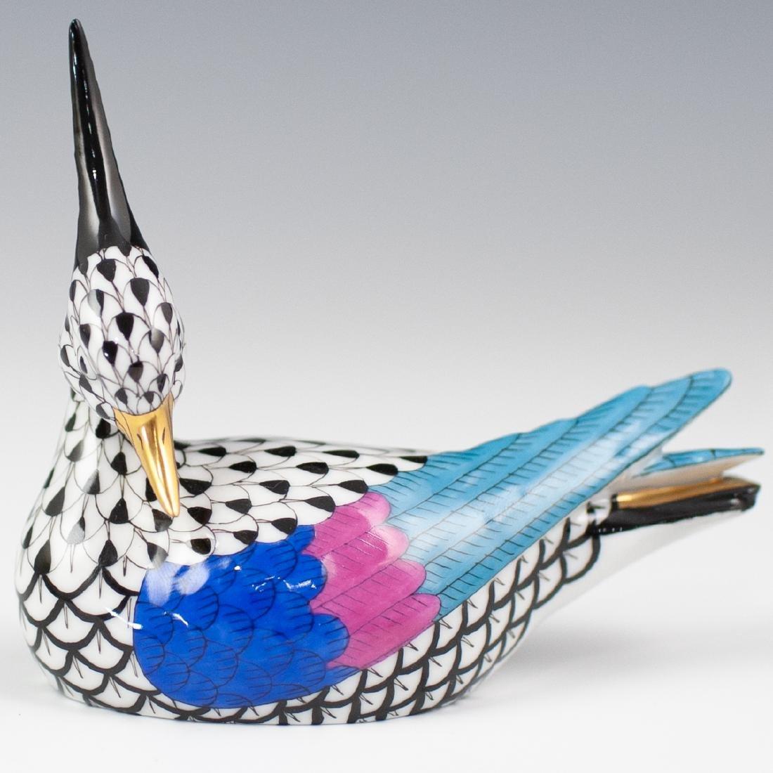 Herend Porcelain Fishnet Bird Figurine