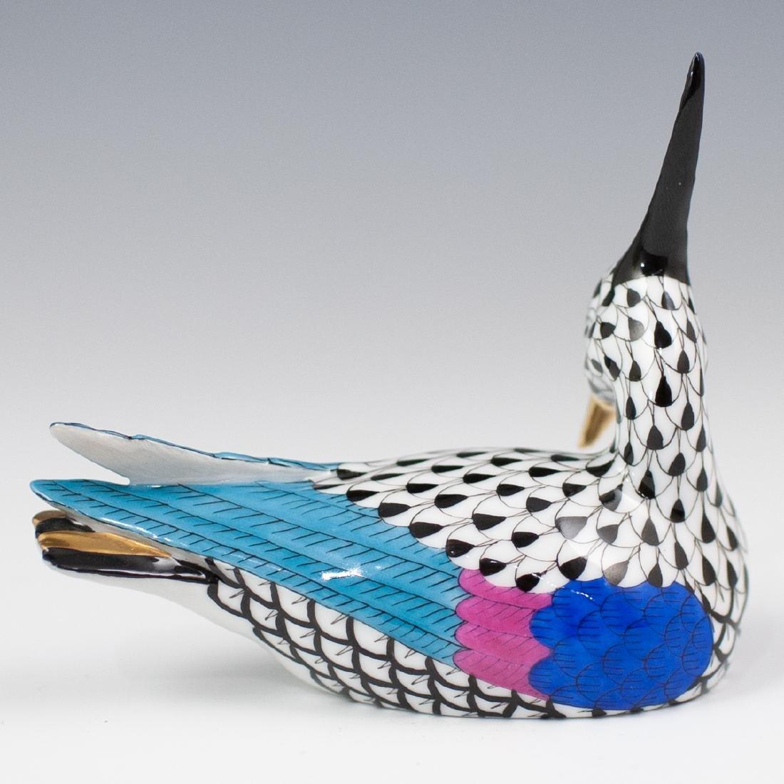 Herend Porcelain Fishnet Bird Figurine - 3