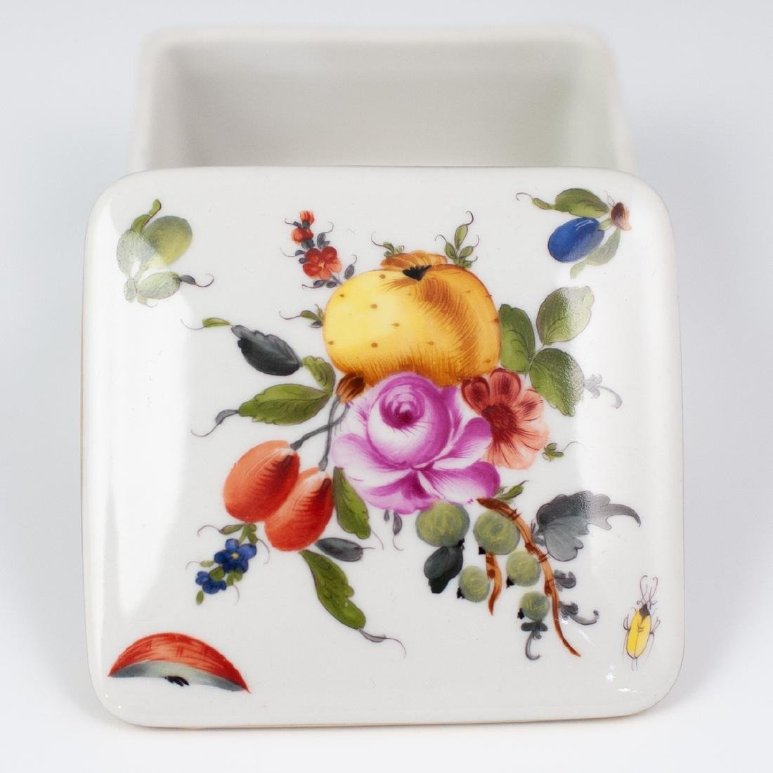"""Herend Porcelain """"Fruits & Flowers"""" Box - 2"""