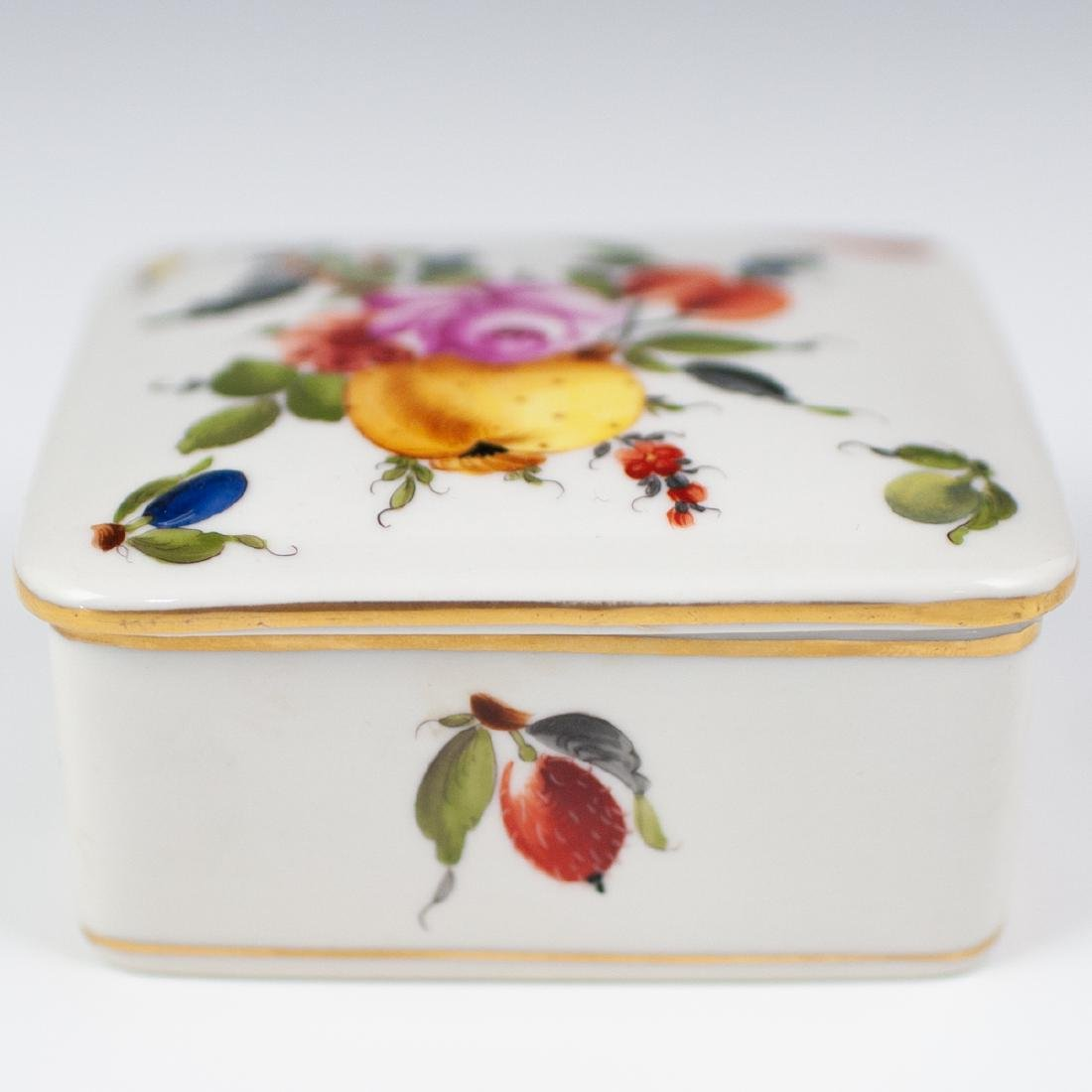"""Herend Porcelain """"Fruits & Flowers"""" Box - 3"""