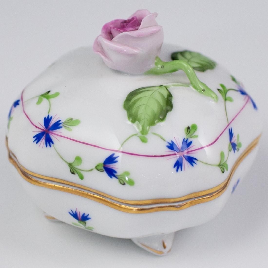 "Herend ""Blue Garland"" Porcelain Box"