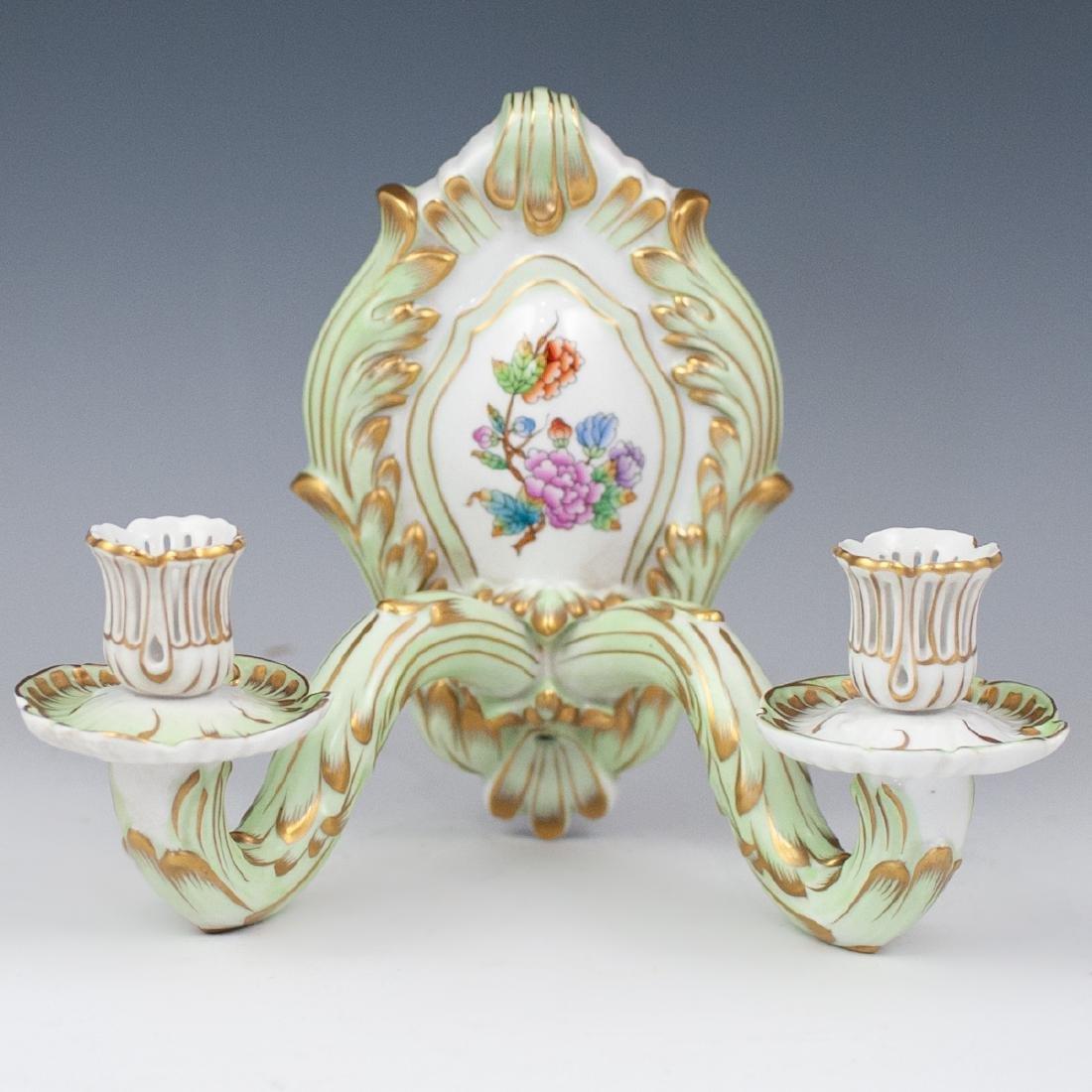 "Herend Porcelain ""Queen Victoria"" Sconce"