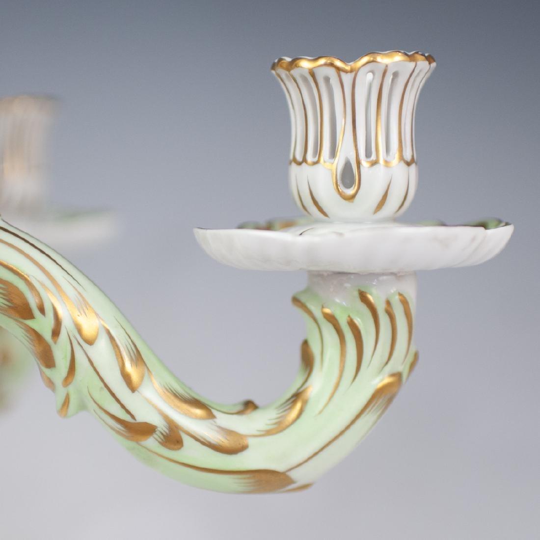 "Herend Porcelain ""Queen Victoria"" Sconce - 5"