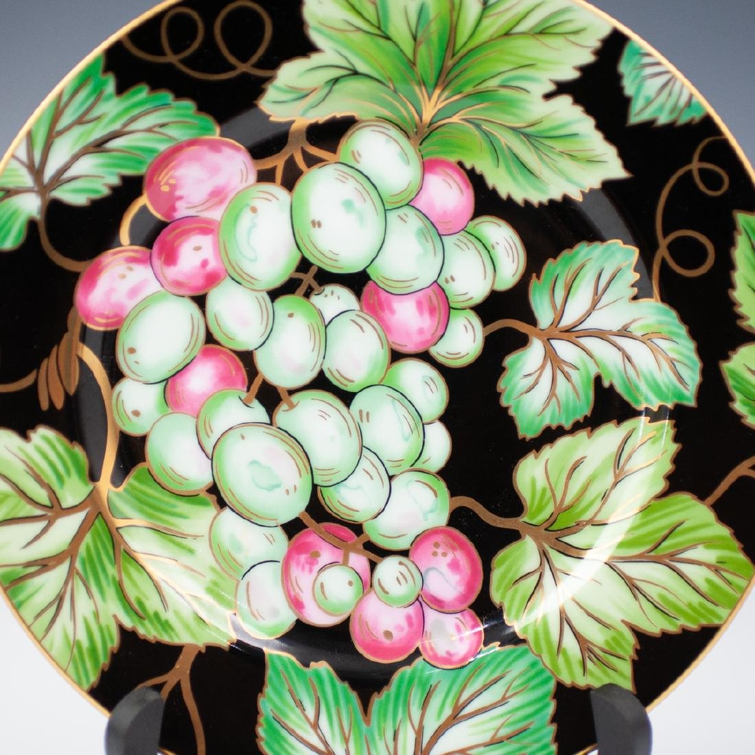 """Fitz & Floyd """"Bordeaux Noir"""" Porcelain Plates - 2"""